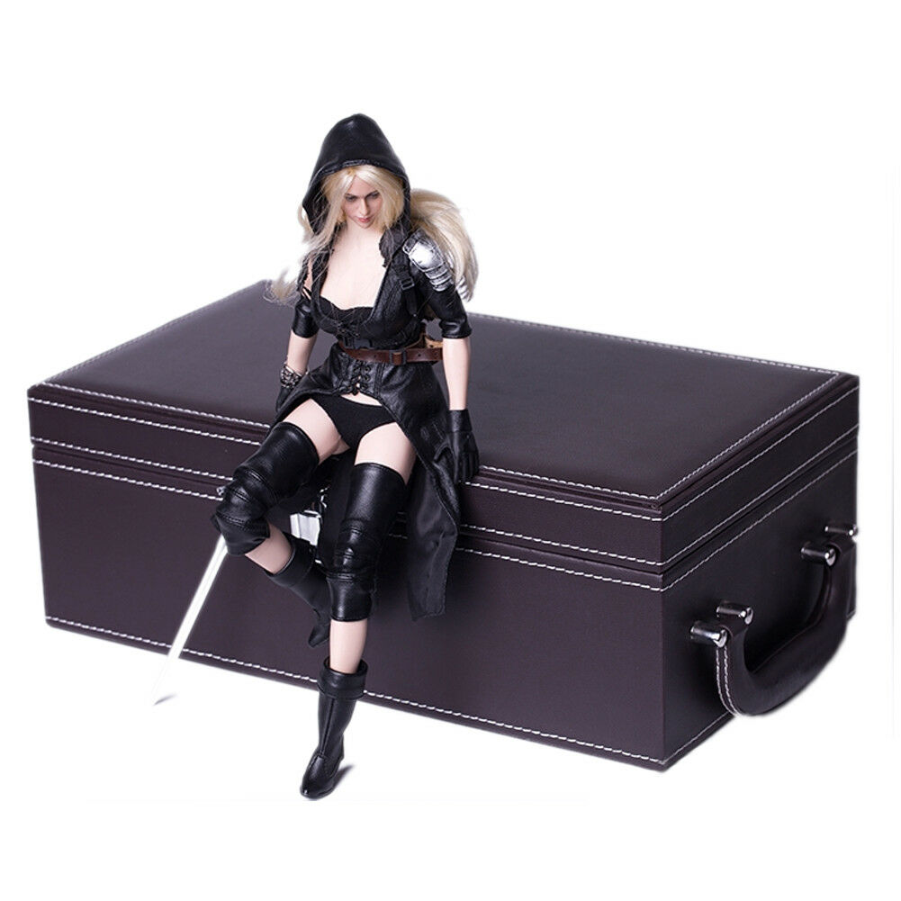 1 6 Scale Scene Props Leather Portable Storage Box Model for 12  Figure Doll Toy