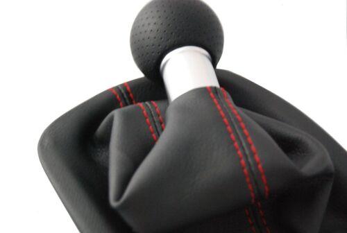 Convient pour AUDI a4 8e 5 vitesses pommeau schaltsack rouge couture 5 Gear red