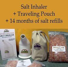 Himalayan Salt Inhaler 14mo refill + Bag Asthma COPD Allergies Sinusitis Snoring