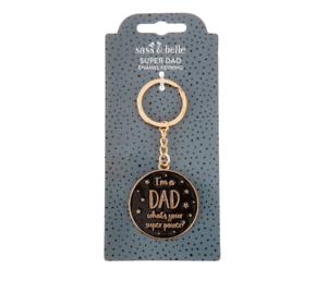 Sass /& Belle Dad/'s Superpower Keyring Super Dad Father/'s Day Birthday Gift Idea