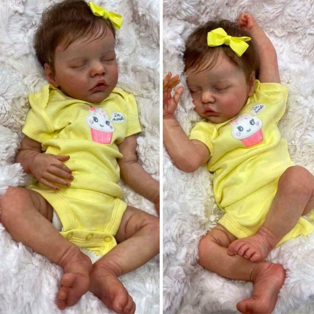 18 Inch Realistic Reborn Doll Silicone Lifelike Toddler Gift for Boys Girls Hot