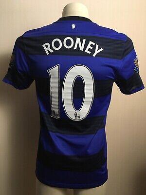 MANCHESTER UNITED 2012 2013 FOOTBALL THIRD JERSEY ROONEY #10 NIKE M BLUE | eBay