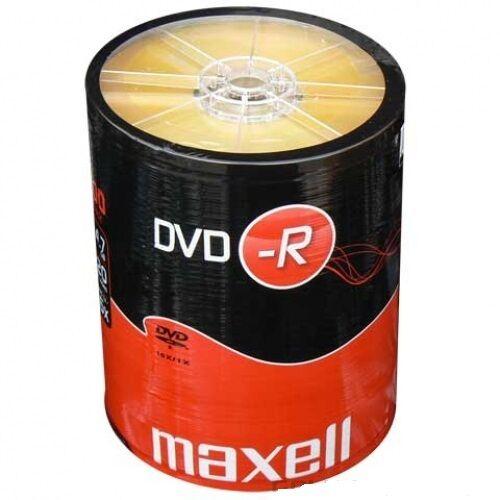 100 DVD -R Maxell vergini STOCK 4.7GB 120MIN 16X SHRINK + 1cd verbatim 275733
