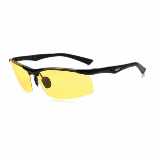 Night Vision Yellow Lens Goggles Men Aluminum Magnesium Driving Polaroid glasses