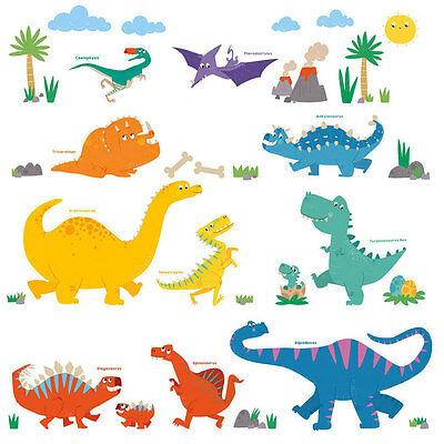 wandsticker kinderzimmer baby dinosaurier dino brontosaurus triceratops t.rex | ebay
