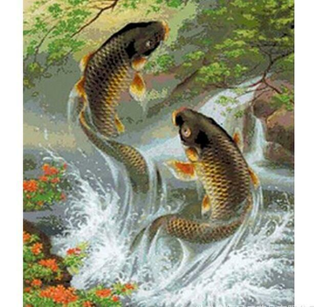Fish Diamond Embroidery 5d Diamond DIY Painting  Cross Stitch