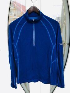 Icebreaker Gt Mens Large 200 Lightweight 1 2 Zip Merino Wool Base Layer Shirt Ebay