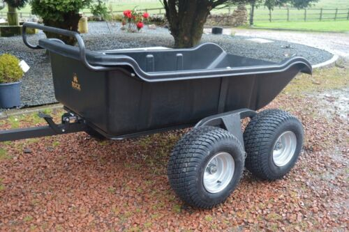 Heavy duty ATV Tipping Trailer 4 wheeled Farming Equestrian 1500lb