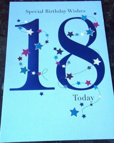 18th CARTE D/'ANNIVERSAIRE SPECIAL ANNIVERSAIRE wshes 18 aujourd/'hui par PRELUDE cartes.