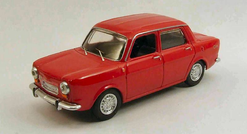 Simca Abarth 1150 1963 rouge 1 43 Model BEST MODELS