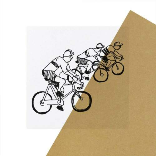 SK00032946 6 x /'Cyclists/' Clear Stickers