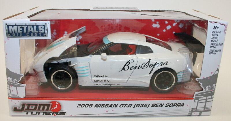 Jada 1 24 Scale Car 98569 - JDM Tuners 2009 2009 2009 Nissan GT-R R35 Ben Sopra - White 2e53cf