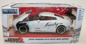 Jada-1-24-Scale-Car-98569-JDM-Tuners-2009-Nissan-GT-R-R35-Ben-Sopra-White