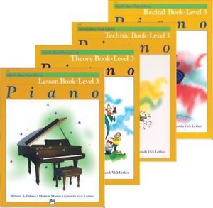 Details about Alfred's Basic Piano Course Level 3 - 4 Book Pack  (Lesson/Theory/Recital/Tech)