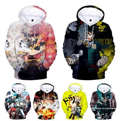 My Hero Academia Bakugou Katsuki Hoodies Zipper Printed Sweatshirt Jacket Coat
