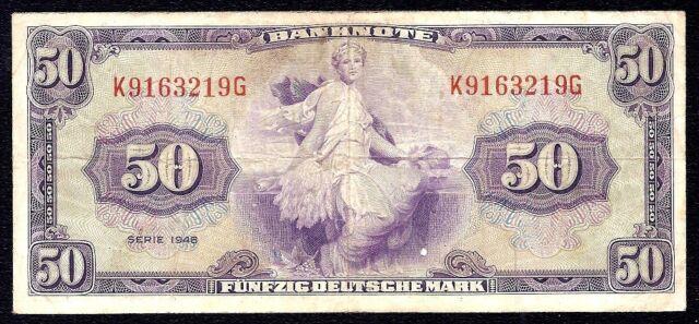 Germany Federal Republic 50 Deutsche Mark 1948 P-7a  K\G  VF