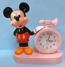 MICKEY MOUSE TALKING ALARM CLOCK DISNEY JAPAN BATTERY OPERATED RARE!