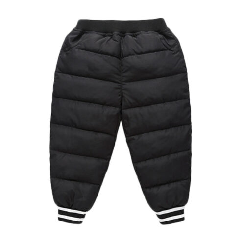 AB Unisex Baby Girls Boys Kid Solid Winter Warm Pants Outwear Long Trousers UK