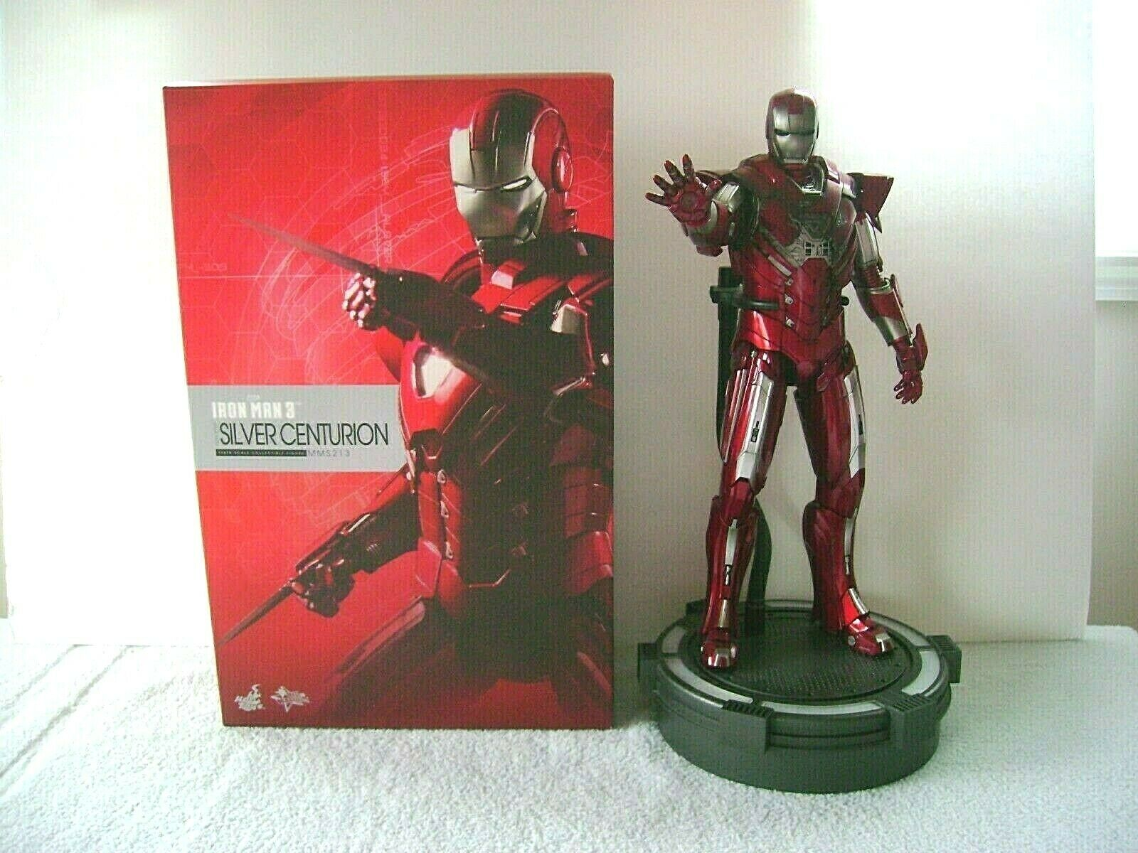 Hot Toys Iron Man 3 Silver Centurion Armor 1/6 Action Figure Used Marvel    on eBay thumbnail