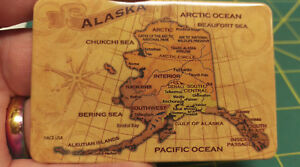 Alaska-Tinplate-magnet-Alaska-Map-with-seas-oceans-some-town-names-amp-regions
