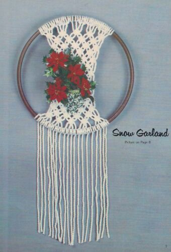 Holiday Patterns GS13 Christmas Elegance Macrame Craft Book