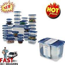 NEW 88 Piece Food Container Set BPA Free Plastic Ware Microwave Safe Food Saver
