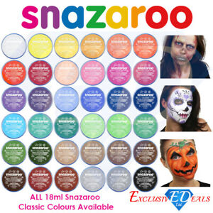 Snazaroo-Face-Paint-amp-Body-Make-Up-Many-Colours-Stage-Fancy-Dress-Halloween-18ml