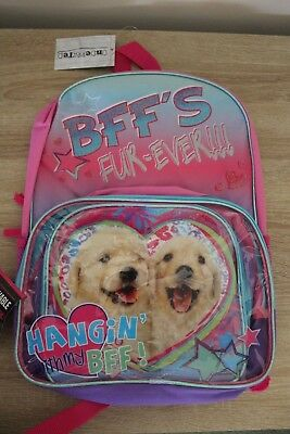 BFF/'S Fur-Ever Puppy Dog Full Size Kid/'s Backpack with Lunch Pack
