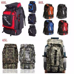 c4ed9c3b39 Image is loading 60L-80L-Outdoor-Military-Rucksacks-Tactical-Bag-Camping-