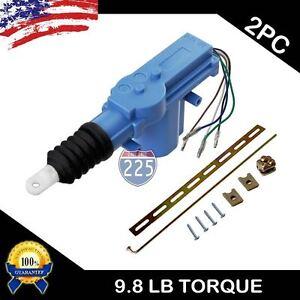2x Universal Door Lock Actuator Motor W Keyless Entry 5