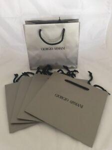 GIORGIO-ARMANI-Papier-Sac-Cadeau-Sacs-Shopping-Texture-Scintillante-Or-Quantite-5