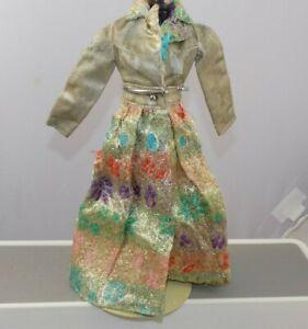 1972-Mattel-Mod-Barbie-Fancy-That-Purple-GOLD-BROCADE-JACKET-Duster-Fashion-3362