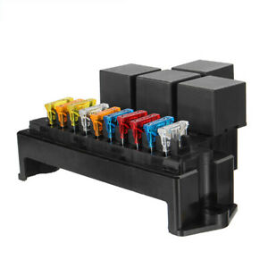 10-Way-5-Pin-Waterproof-Relay-Fuse-Block-Holder-Automotive-Marine-Fuse-Box-Truck
