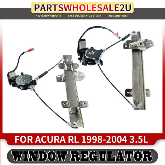 2 Window Regulators W/ Motor for Acura RL 1998 1999 2000 ...