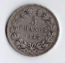 MONNAIE / ECU DE 5 FRANCS LOUIS PHILIPPE 1843 W @ LILLE @ SILVER COINS @ PROMO !