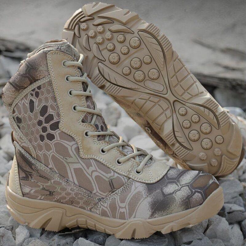 Nuovi Uomini Mimetico Tattica Tattica Mimetico Di Combattimento Militare Parte Zip Lavoro Caviglia Anfibi Scarpe 545718