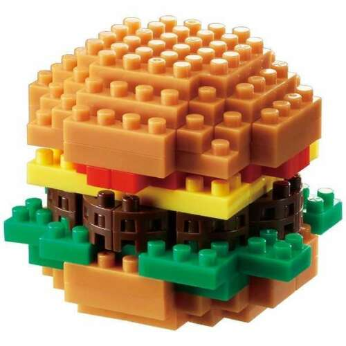 Hamburger Nanoblock Micro-Sized Building Block Construction Brick Kawada NBC217