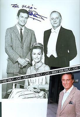 Candid Photo Dina Merrill Maurice Evans Photographs Cliff Robertson Signed B&w 8x10 Photo