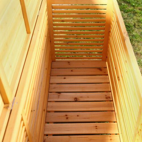 XXL Holz Bank Auflagenbox Kissenbox Gartenbox Gartentruhe Truhe Holztruhe