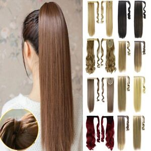 One-Piece-Wrap-Around-Ponytail-Clip-In-Hair-Extensions-Pony-Tail-Fake-Hair-MS36