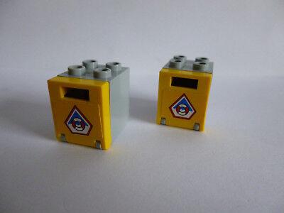 4345 4346 NEUWARE 4 x Schrank 2x2x2 rot transparent klar LEGO Kasten Box