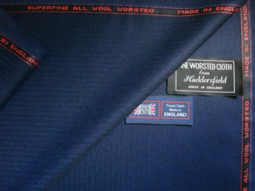 3.4 m. MADE IN ENGLAND 100/% SUPERFNE MERINO WOOL WORSTED SUITING FABRIC