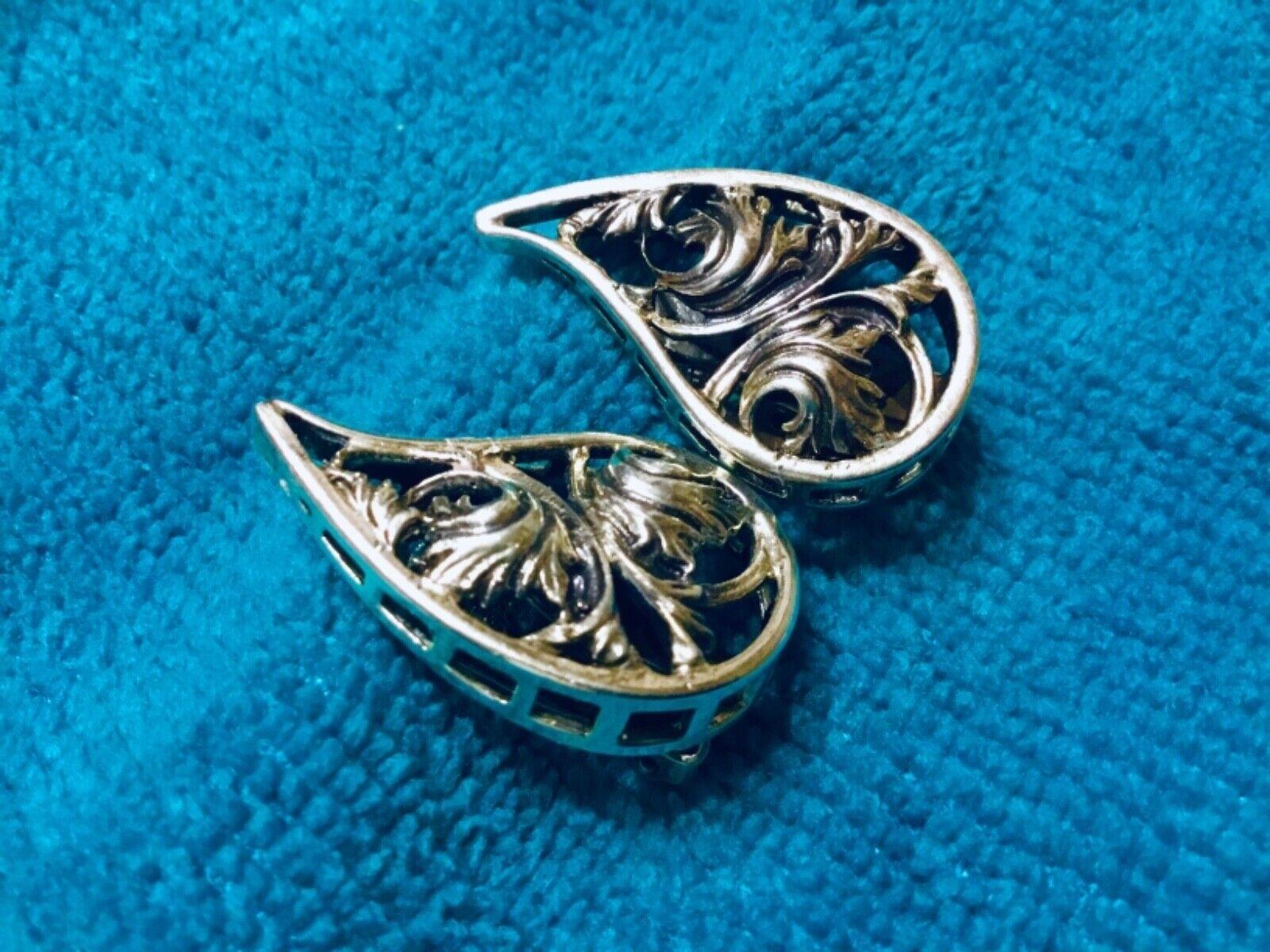Vtg Sterling Silver Danecraft Clip earrings - image 2