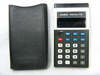 Rare 70´s vintage calculator Taschenrechner CASIO memory - 8 A  + case working