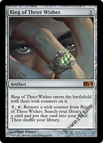 Artifact m14 Magic 2014 Mtg Magic Mythic Rare 1x x1 1 Ring of Three Wishes