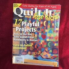 Quilter's Newsletter Magazine Quilting For Kids 2006 Free Shipping