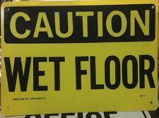 Caution Wet Floor Vintage 10 X 14 Construction Sign Osha Safety