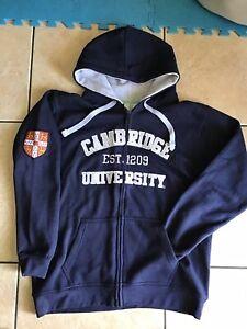 Sudadera cambridge Size University capucha Zip Jacket ~ Xl con ~ men's Full Oficial EIqU5nTq