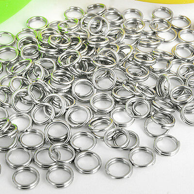 5mm Stainless Steel Split Rings Jewelry Making Findings for  Key Rings 250 Pcs