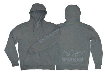 Hoody ROKKER Zip Farbe: Hellgrau Gr: XXXL | eBay